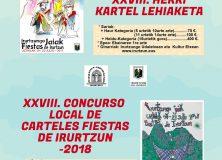 XXVIII. CONCURSO LOCAL DE CARTELES DE FIESTAS DE IRURTZUN.