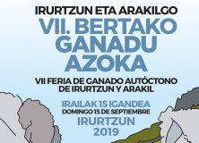 VII FERIA DE GANADO  AUTÓCTONO IRURTZUN Y ARAKIL